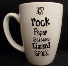 cup, big bang, lizard spock, bang theori, christmas