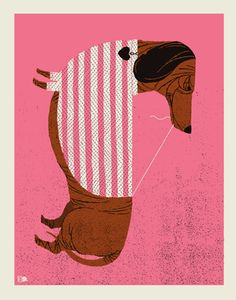 DACHSHUND | Limited Edition Art Posters Archives | Methane Studios