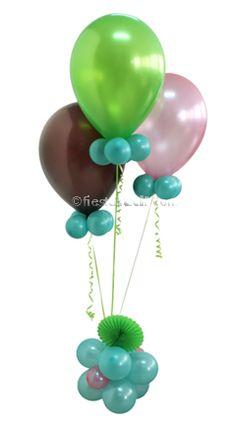 Cómo hacer centros de globos, en www.fiestafacil.com / How to make balloon centerpieces, from www.fiestafacil.com