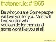 be who you are | thatonerule