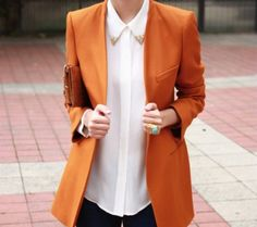 Could do with some orange in my blazer collection