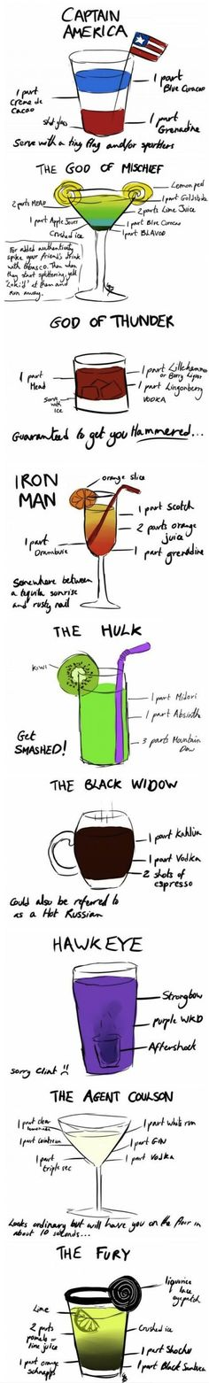Avengers Drink Mix!!