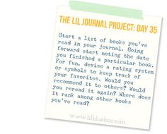 The Lil Journal Project Day 35 via lilblueboo.com #thejournalproject