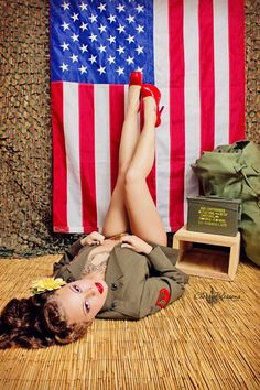 #sexy #military #girls #flag #support