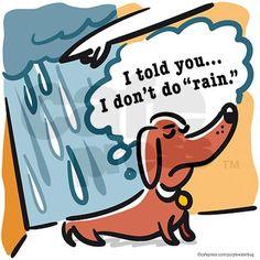I don't do rain