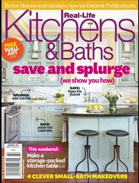 A bathroom project our company built is featured in Real-Life Kitchens & Baths by Better Homes and Gardens!!  Summer 2012 edition.  Pages 102-105