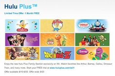 Nintendo Offers One Free Month Of Hulu Plus