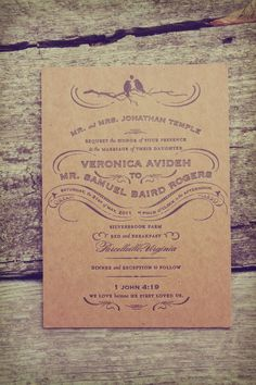 brown paper invite.