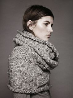 Large cabled cowl