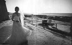 VOGUE FRANCE – APRIL 2012 #bride #wedding #albertaferretti #editorial #magazine #fashion #white #dress #vogue