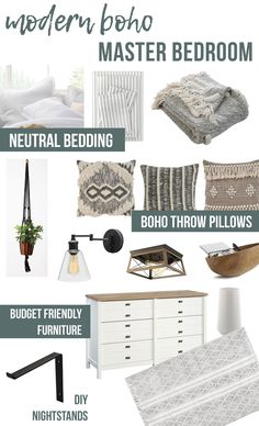 Modern Boho Bedroom Mood Board And Room Reveal!