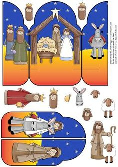 POP UP Christmas Nativity Card