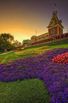 Sunsets over Disneyland Anaheim California via flickr