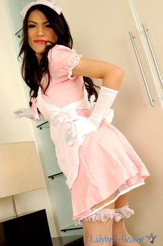 Gorgeous #shemale Maid in her sexy uniform! #ladyboy