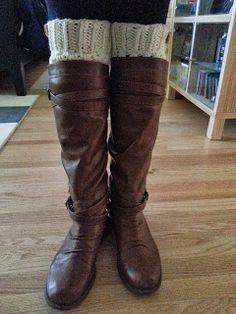 Free boot cuff pattern!!! Crochet from J: Boot Cuffs Pattern