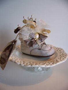 Vintage Baby Shoe Pincushion