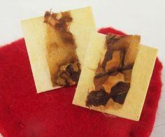 Fiber Art  Earrings by artmixter on Etsy, £5.00