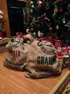 Personalized Santa Sacks DIY