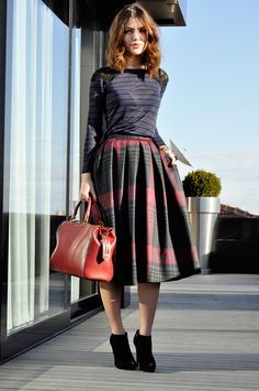 Fall style with tartans and stripes