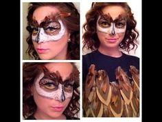 Owl Mask Makeup Tutorial - YouTube