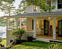Wrap Around Porch - traditional - exterior - portland maine - Whitten Architects