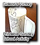 Gideon printable craft