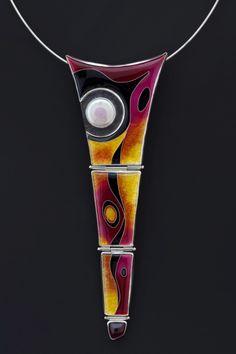 cloisonne enamel necklace by Lisa Hawthorne
