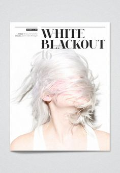 white | #editorial #layout #typography #magazine #cover