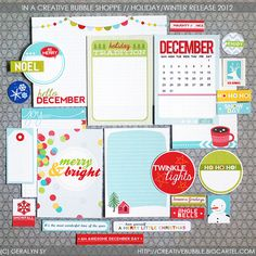 In a Creative Bubble, perfect for December pages.