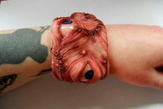 Stitched eye bracele