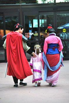 Shang, Mulan, and friend.