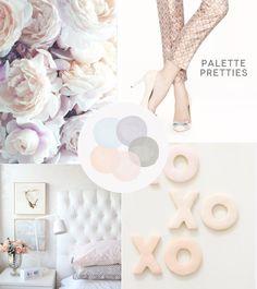pretty blush hues