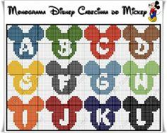 Gráficos Ponto Cruz Angela Bordados: alfabeto