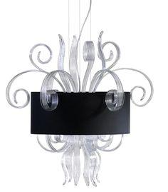 Black Silk & Art Glass Pendant Inspiring Hollywood Interior Design Accents, Courtesy of InStyle-Decor.com Beverly Hills for Interior Design Fans to Enjoy