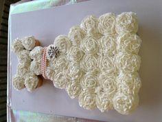 Bridal shower wedding dress cupcakes by Target!!