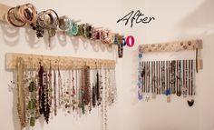 DIY Jewelry organizers. Someday I WILL make myself something to organize my jewelry!