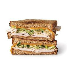 Grilled Turkey, Apple, and Cheddar Sandwiches | Cooking Light  #myplate #protein #wholegrain #dairy #fruit