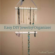 Easy DIY Jewelry Organizer | ScatteredSquirrel.com