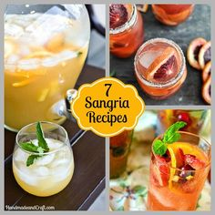 7 Sangria Recipes to Savor...yum!!!!