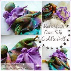 Beneath the Rowan Tree: Make Your Own Play Silk Cuddle Doll :: Free Kid's Craft Tutorial (DIY)