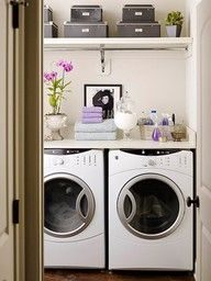 functional yet tidy laundry room
