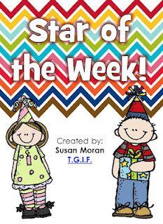 T.G.I.F.: Star of the Week! FREEBIE star of the week ideas, school, stars, freebi friday, grade, kindergarten, classroom booklet, ferns, classroom ideas