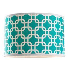 18 inch Geometric Fretwork Pattern Fabric Drum Shade