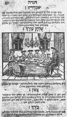 German Haggadah, Offenbach 1795. Publisher: Gedrukt bay B. L. Manash. (http://jhom.com/calendar/nisan/history.html). gedrukt bay