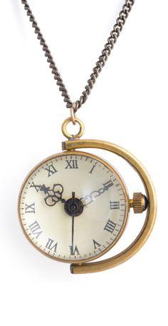 two face watch pendant, fashion, style, accessori, pretti jewelri, clocks necklace, clock necklac, face pendant, thing
