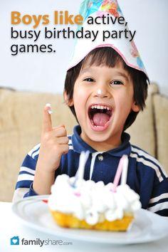 FamilyShare.com   Throw a boy bash: 5 games for boy birthday parties