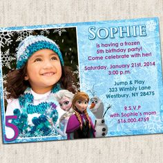 Disney Frozen Invitation - Custom Photo Printable Design - Frozen Party