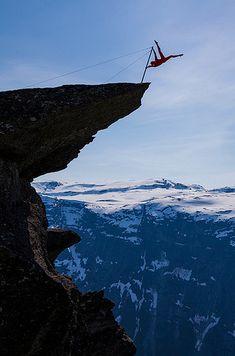 Trolltunga in Hordaland, Norway