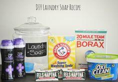 DIY Laundry soap & a