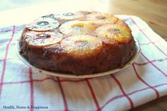 Grain free - Honey sweetened pineapple upside down cake